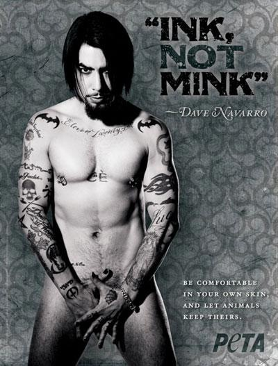 Save Mink Wear Dave: Animal Rights, Rocks Stars, Eyes Candy, Davenavarro, Dave Navarro, Map, Batman Tattoo'S, Hot Chilis Peppers, Ink