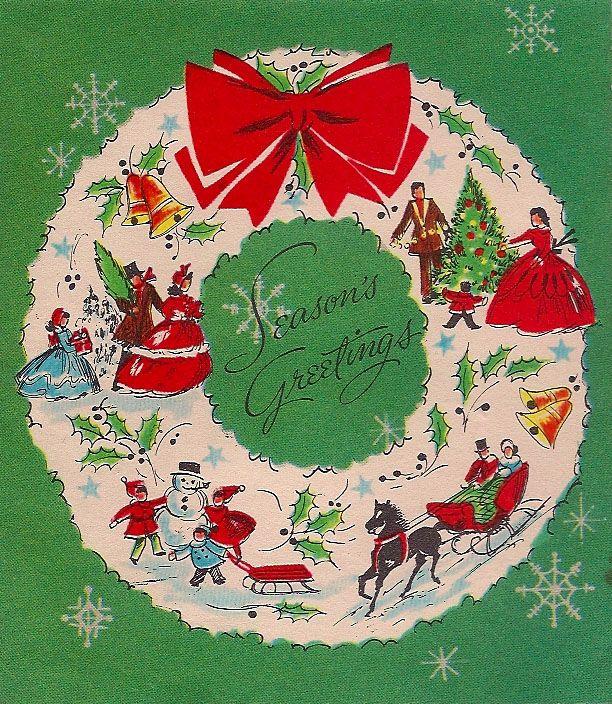 295 best Vintage Christmas Cards images on Pinterest | Vintage ...