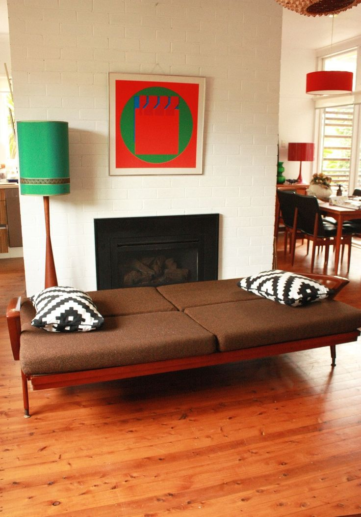 Mid Century Click Clack Day Bed / Lounge by TriBecasVintage on Etsy
