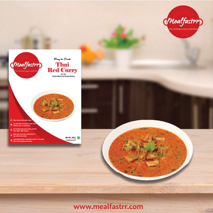 Give your taste buds a treat with this amazing ready to cook Thai Red Curry. Shop Now at www.mealfastrr.com #thairedcurry #readytocook #mealfastrr #thaiffod