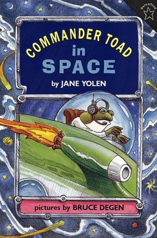 Commander Toad in Space:  great examples of figurative language, word choice, and use of repetition. (Also a fun book for beginning readers--and parents, too, who will enjoy the tongue in cheek allusions to Star Wars and Star Trek.)