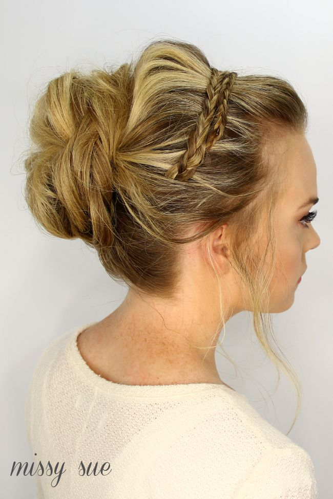 headband updo ideas