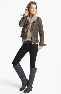 Q40 Jacket, Caslon® Pullover & Hudson Jeans Skinny Jeans   Nordstrom