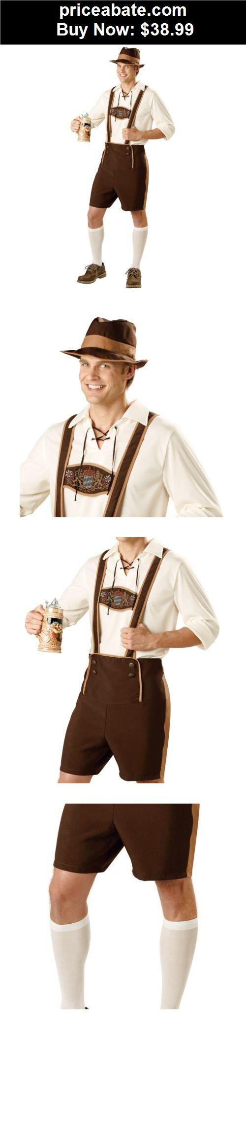 Men-Costumes: Lederhosen Costume Adult German Beer Bavarian Guy Oktoberfest Fancy Dress - BUY IT NOW ONLY $38.99