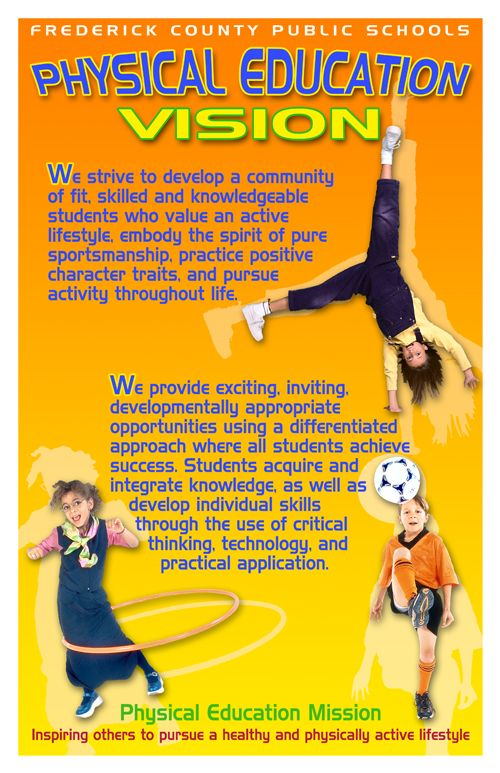 Physical Education Posters   FCPS Physical Education Vision Poster