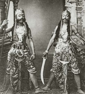 Antique and Classic Photographic Images. Java, Dutch India (Indies), ca 1910 (Actors). Photographer unknown.