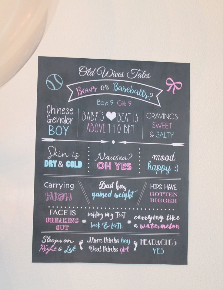 Gender Reveal Party Decor Old Wives Tales To Help