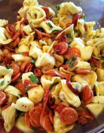 Tortellini and Pepperoni Pasta Salad