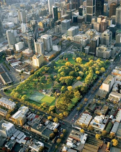 Flagstaff Gardens - you can see the apartment I lived in at the bottom left! Beautiful.