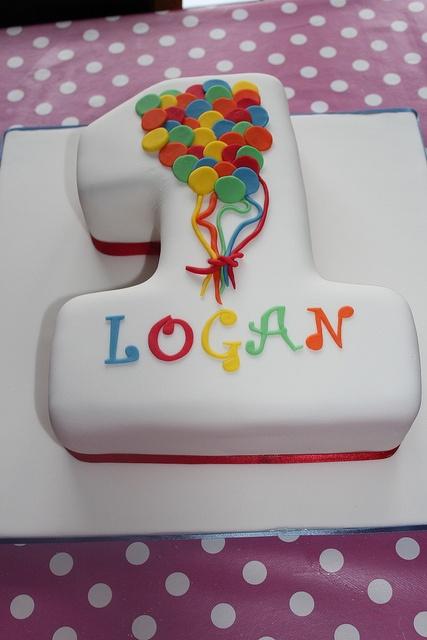 No 1 balloon cake