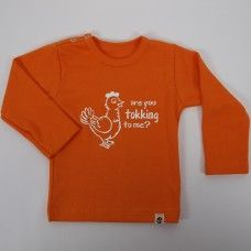 Wooden Buttons longsleeve Tokking to me Orange