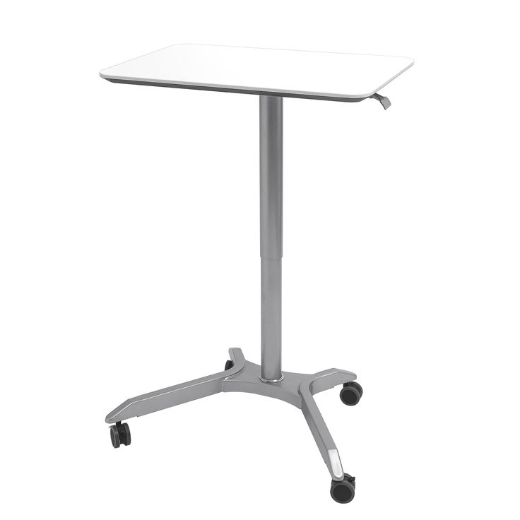 Seville Classics Airlift™ XL Sit-Stand Mobile Desk, Espresso