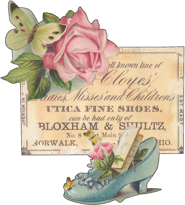 Kell Belle Studio: Free Vintage Shoe Advertisement