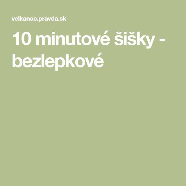10 minutové šišky - bezlepkové