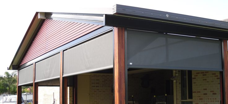 Outdoor Blinds and an infill made from aluminium slats