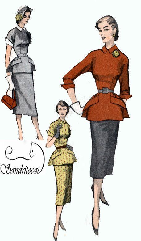 1950s Vintage Sewing Pattern Advance 5806 by sandritocat on Etsy, $45.00