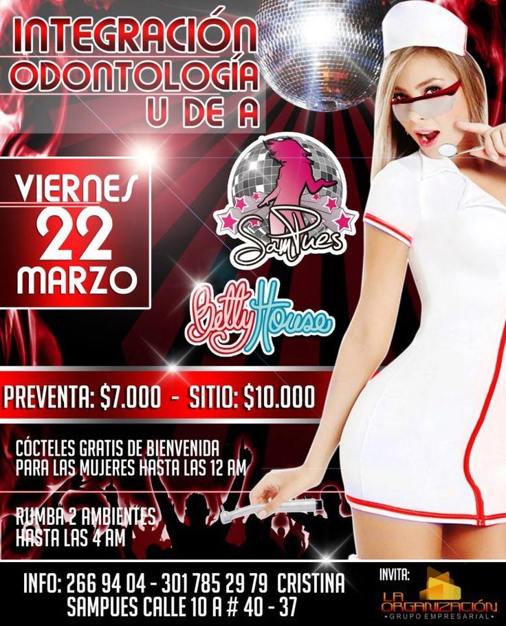 Integración Odontología de la UdeA esta noche en SamPues y BettyHouse, a #mirolear! http://www.mirolo.net/Medellin/Sampues.aspx