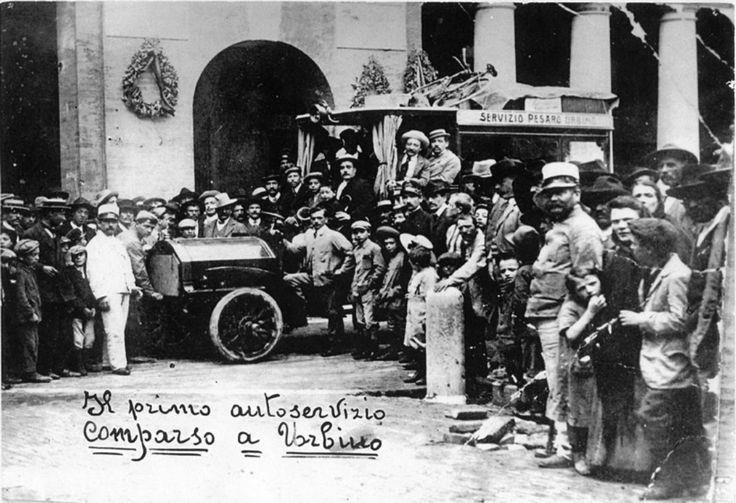 Prima navetta per il trasporto passeggeri da Urbino a Pesaro (1910-1919)