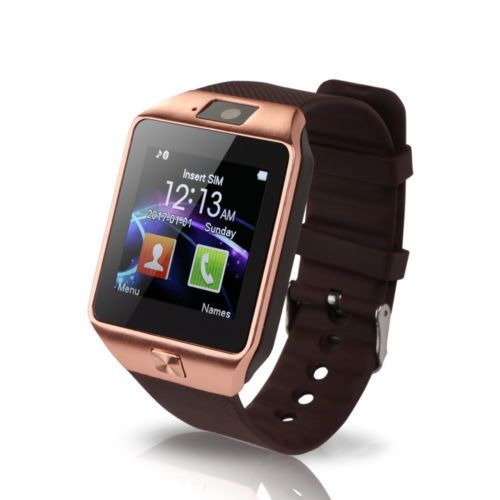 # Gold DZ09 Bluetooth Smart Watch SIM For Samsung Android Phone Mate