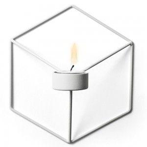 Świecznik POV ścienny, biały - Menu