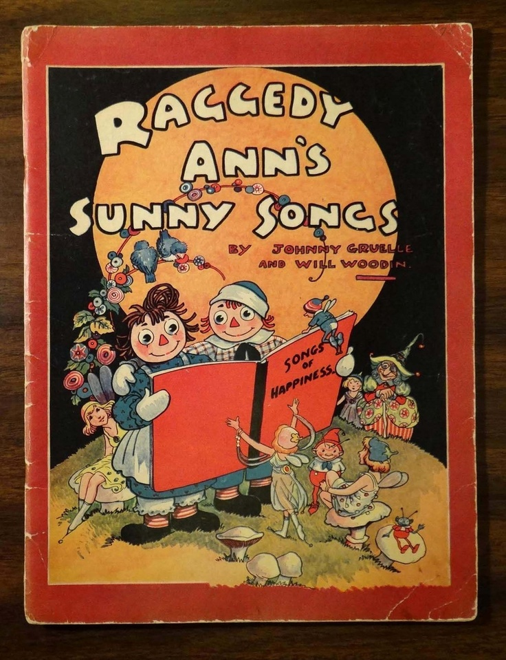 Raggedy Ann's Sunny Songs Johnny Gruelle Woodin 1930 Song Book Music Ukulele | eBay