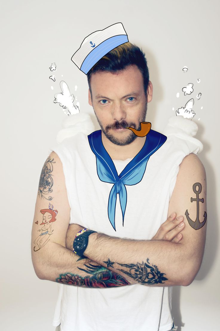 """#MARCOBRAVO Popeye the sailor man Part of the """"In Her Shoes (Scarpette)"""" project"""