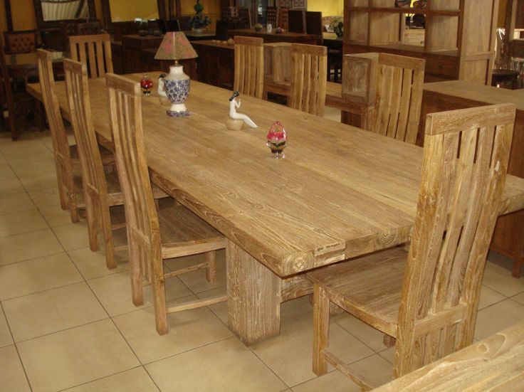 Perfect Teak Wood Dining Table And Chairs Set Furniture From Indonesia