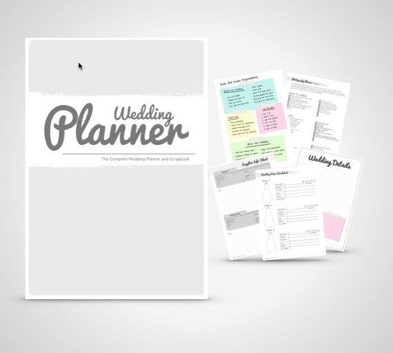Wedding Planner book wedding organizer Print by WeddingToolzStore