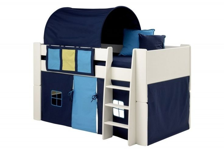 Steens For Kids Mid Sleeper Tunnel in Blue - The Steens For Kids mid sleeper play tunnel in dark blue has metal arches for support at each end and is designed for mid sleeper beds with or without slides. Add some extra fun and colour to your child's bedroom with a Steens for Kids bed play tunnel.