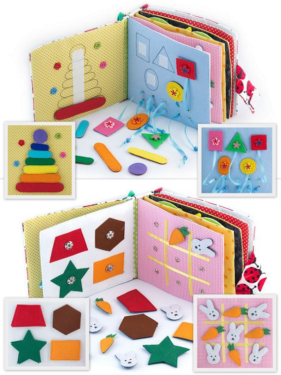 *This book can be personalized. When you purchase select the name of your baby, or another name of the book!  Quiet active book made of cloth is