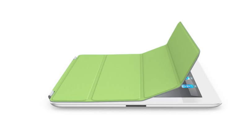 White iPad with a green cover - I can dream, right?