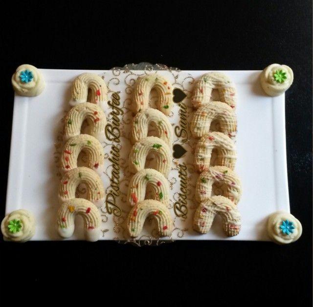 Pistachio Burfee Biscuits