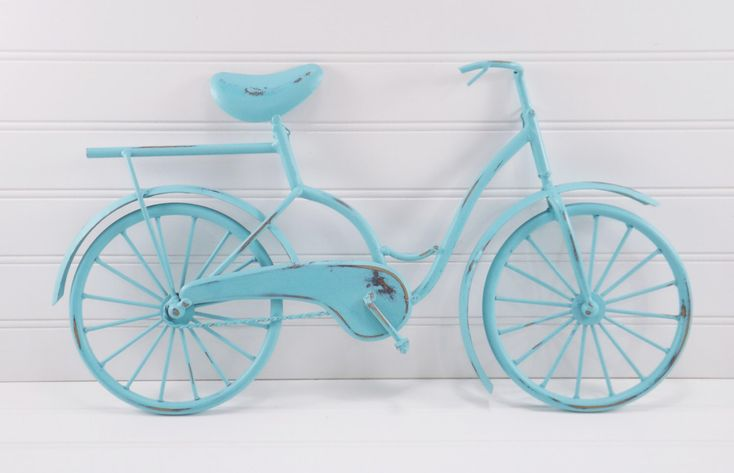 Metal Bicycle / Bicycle Wall Decor / AQUA/ Nursery Wall Decor by SHABILICIOUSDECOR on Etsy https://www.etsy.com/listing/257153801/metal-bicycle-bicycle-wall-decor-aqua