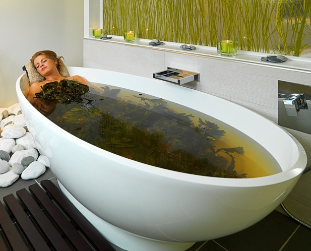 Indulge your body in a warm still bath of 100% Organic Seaweed leaves, hand harvested from the pristine waters along the west coast of Ireland. Oozing with natural oils and sea minerals, this treatment begins with a body warming steam to open pores and use of the experience shower to seal in the beneficial minerals and elements.