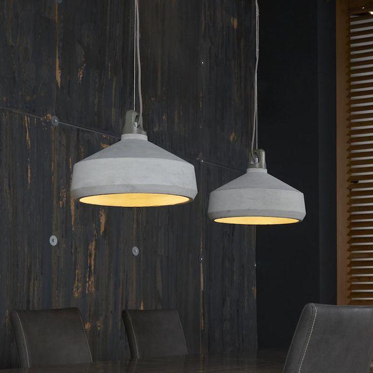 Concrete 2 lichts industriële hanglamp beton