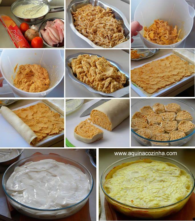 Opção super prática para fazer um delicioso rondelli e com o recheio que você quiser, é usar a massa de fazer pastel.