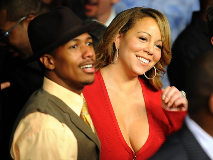 Singer Mariah Carey and her husband, actor Nick Cannon attend the Floyd Mayweather Jr. and Shane Mosley welterweight fight at the MGM Grand Garden Arena on May 1, 2010 in Las Vegas, Nevada. AFP PHOTO / GABRIEL BOUYS (Photo credit should read GABRIEL BOUYS/AFP/Getty Images) via @AOL_Lifestyle Read more: https://www.aol.com/article/entertainment/2017/07/14/nick-cannon-broken-shattered-mariah-carey-breakup/23029928/?a_dgi=aolshare_pinterest#fullscreen