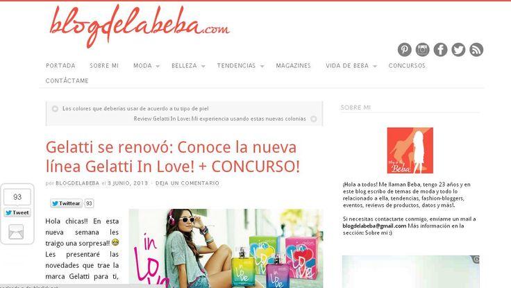 Cerrado. Participen en El Blog de la Beba.com por un espectacular set de Colonias Gelatti en sus dos presentaciones In Love eau de toilette e In Love Body Mist