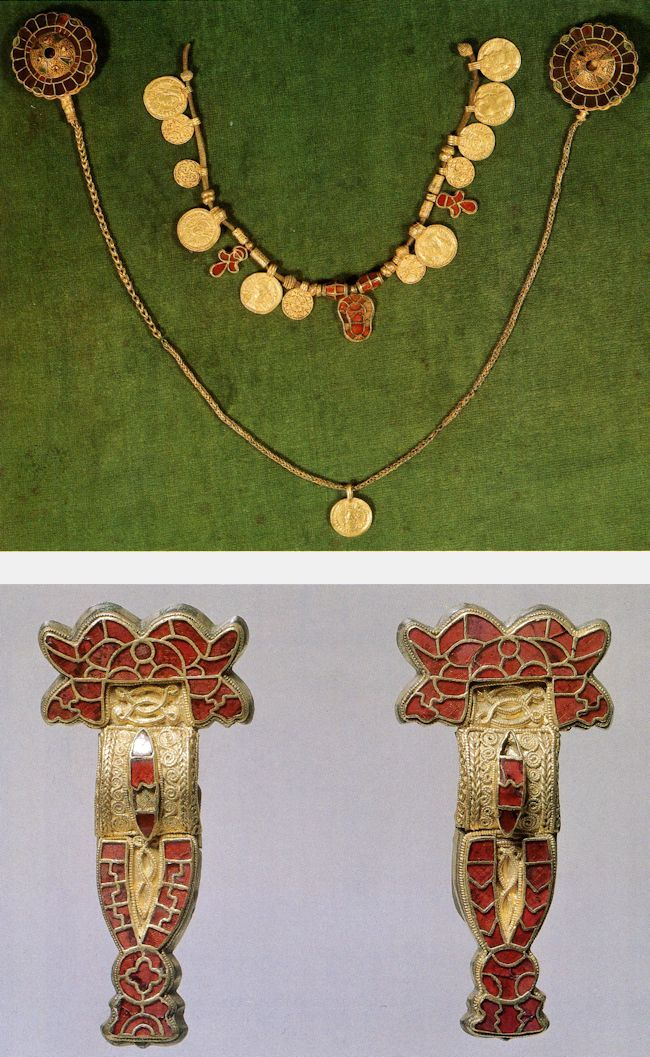More Merovingian King's treasure found in Balthild's tomb.