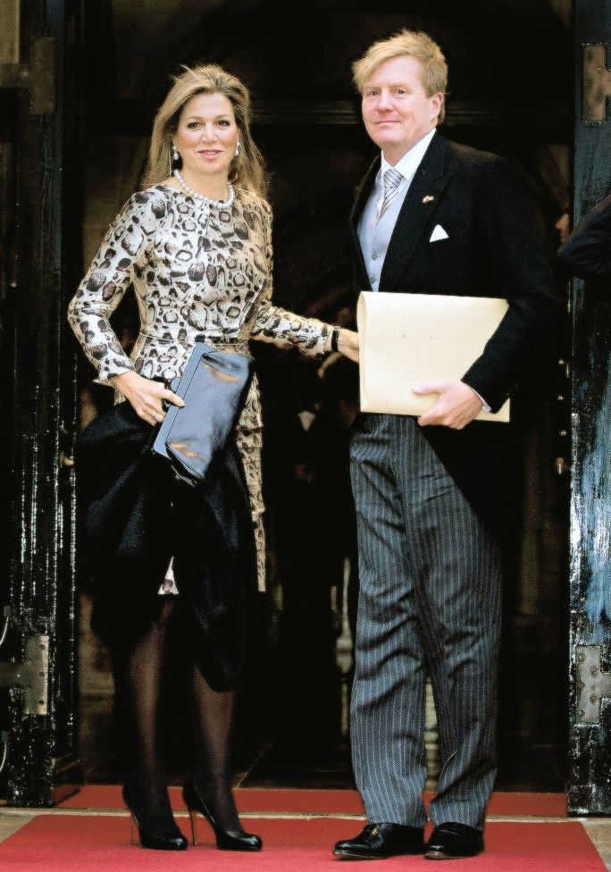anythingandeverythingroyals: King Willem-Alexander and Queen Maxima attended a New Year's Reception, Dam Palace, January 14, 2015