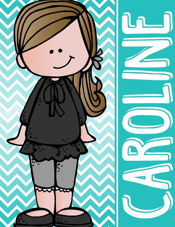 the BRAINY BUNCH - GIRLS - Student Binder Covers - brown hair {Melonheadz}