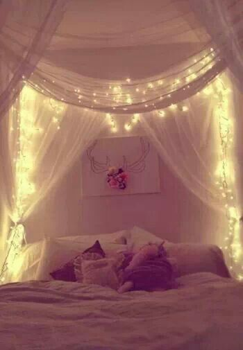 himmelbett betthimmel pinterest deko fairy lights. Black Bedroom Furniture Sets. Home Design Ideas