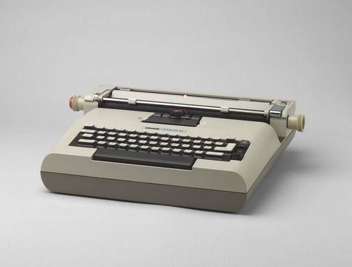 "Lexicon 82 Electric Typewriter Mario Bellini (Italian, born 1935), Antonio Macchi Cassia (Italian, born 1937) and Gianni Passini (Italian, born 1941)  1972-73. Cast-injected ABS polymer casing, 4 1/2 x 15 1/4 x 15"" (11.5 x 38.7 x 38 cm). Manufactured by Ing. C. Olivetti & C. S.p.A., Ivrea, Italy and Ing C. Olivetti & C., S.p.A., Ivrea, Italy. Gift of the manufacturer. © 2013 Mario Bellini"