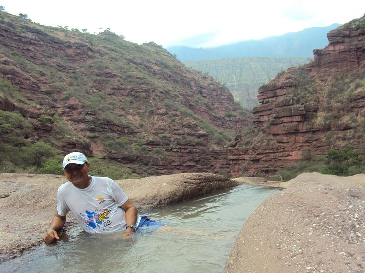 El abismo.... Refrescante, en el Cañon de las iguanas, 2011.