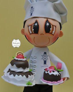 Muñequito personalizado para el chef José Enrique de la escuela de cocina LE CORDÓN BLEU MADRID,un placer haber recibido este encargo.