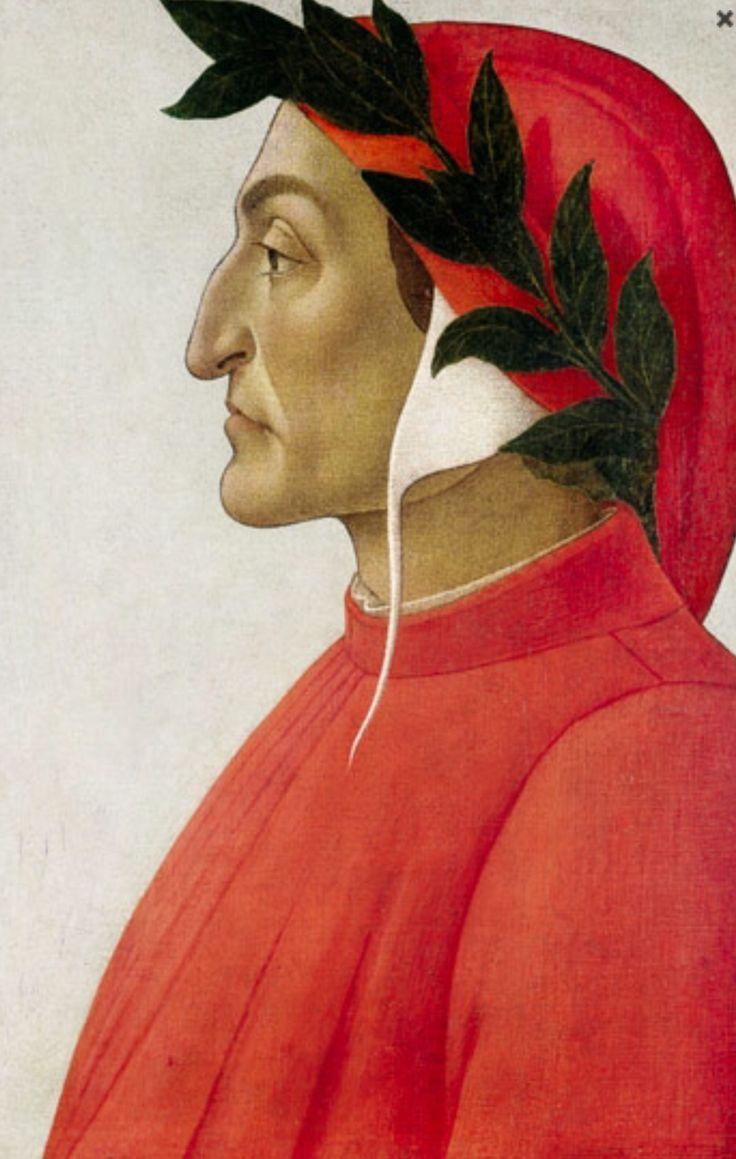 Dit is Dante Alighieri. Hij is een bekende dichter uit de Renaissance, in zijn bekendste werk was de La divina commedia. Hij leefde van 1265 tot 1321.