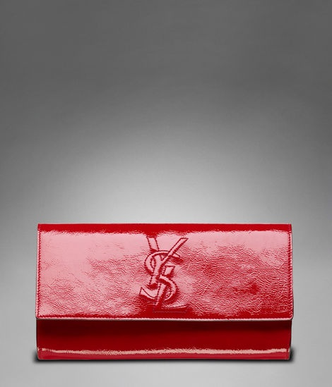 Large YSL Clutch in Red Patent Leather at http://www.ysl.com/en_US ...