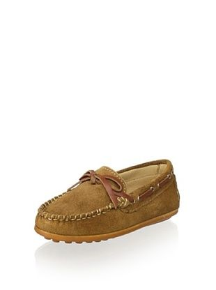 OCA-LOCA Kid's Suede Moccasin (Brown)