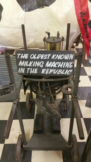 The oldest known milking machine in the Republic