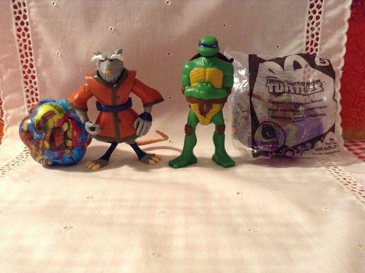 4 Teenage Mutant Ninja Turtles Toys Donatello Splinter Action Figures, Ball TMNT